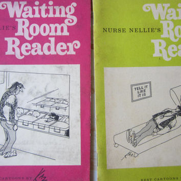 Nurse Nellie's Waiting Room Readers '68 & '69 Issues , Doctor's Office Humor , Medical Humor , Medical Comic Books by Kaz