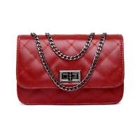 Ladies Shoulder Bag Small Crosbody Bags with Chains Flap Messenger Bag