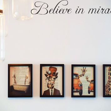 Believe in miracles Style 04 Die Cut Vinyl Decal Sticker Removable