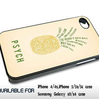 Psych Quote Pineapple - for iPhone 4/4S,5 case iphone 4/4s/5 Case Hard Plastic Cover