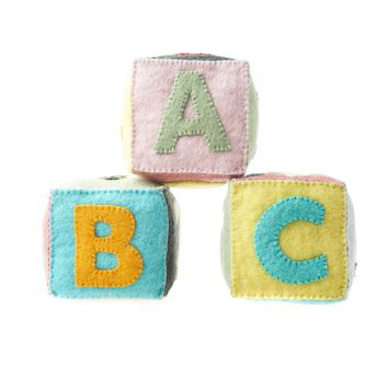 Felt ABC Blocks