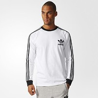 Men's Adidas Stripe Sweatshirt Top Sweater Pullover