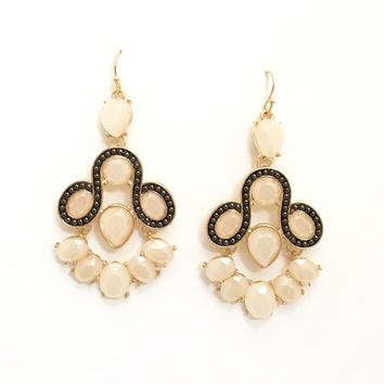 Molly Chandelier Earrings In Ivory