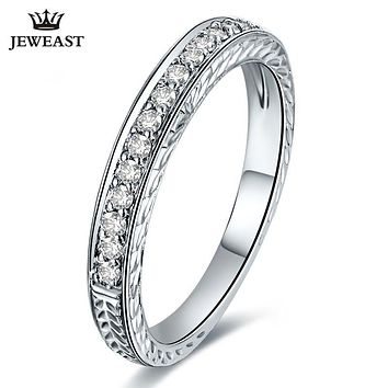 White 18K Gold Diamond Ring Wedding Ring Exquisite Jewelry Female Ring A Role Diamond Ring Support Customization