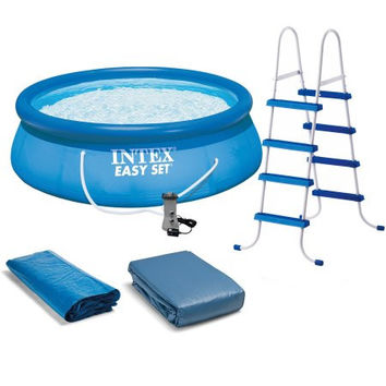 15 x 48 Above-Ground Easy Setup Outdoor Swimming Pool Set w Ladder & Filter