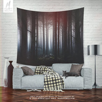 Dreamy Forest Tapestry, Forest Wall Tapestry, Nature Wall Hanging, Artsy Wall Tapestry, Spooky, Nature Art, Boho, Indie, Dorm Room, Wall Art