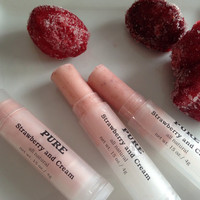 Fruity Strawberry Lip Balm - all Natural with REAL Strawberry Powder.