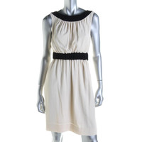 Kate Spade Womens Textured Contrast Trim Party Dress