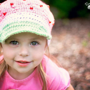 PATTERN Strawberry Shortcake Cap - KNIT
