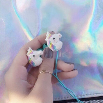 Cool Unicorn Headphone Earbuds