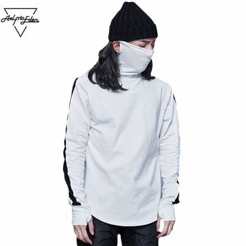Turtleneck Hoodies Assassins Creed Pullover Mask Section Men Sweatshirts  Tops