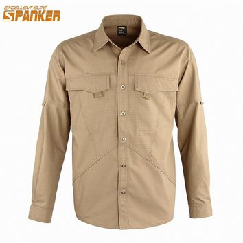 EXCELLENT ELITE SPANKER Men's Long-sleeved T-shirt Combat Men's Camouflage Clothes Long-sleeved Outdoor Sportswear Thin section