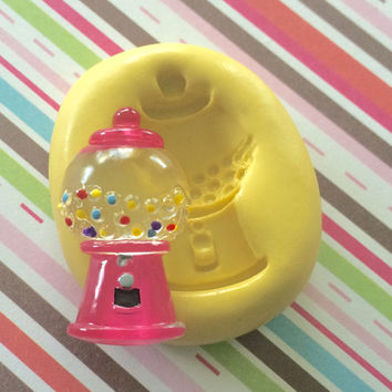 GUMBALL CANDY Machine Silicone MOLD - Resin Mold, Fake Food Decor, Cold Porcelain, Marzipan, Resin, Craft, Cupcake, Cake, Soap, Charms, J