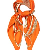Gold Harness-print silk-twill scarf | Gucci | MATCHESFASHION.COM US