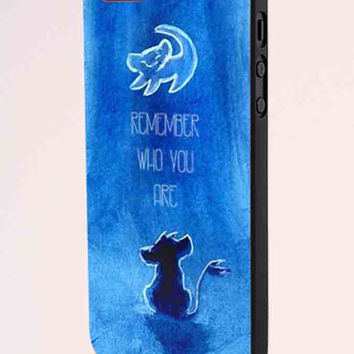 The Lion King Movie Simba Remember Who You Are iPhone 5 Case