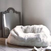 Sumptuous Sheepskin Double Beanbag - Ivory