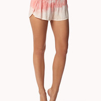 FOREVER 21 Ombre PJ Shorts Pink/Peach Small