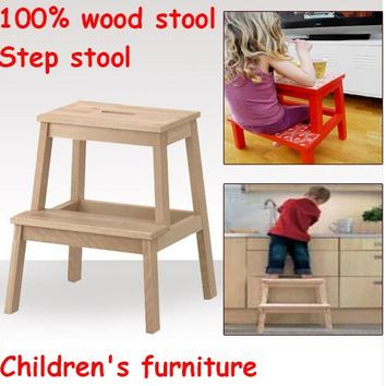 Children step stool,child chairs 100% wooden stool,step stool,children furniture