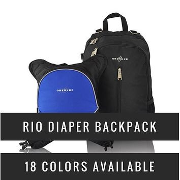 Obersee Rio Diaper Backpack with Detachable Bottle Cooler