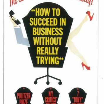 How to Succeed In Business Without Really Trying 11x17 Broadway Show Poster (1961)