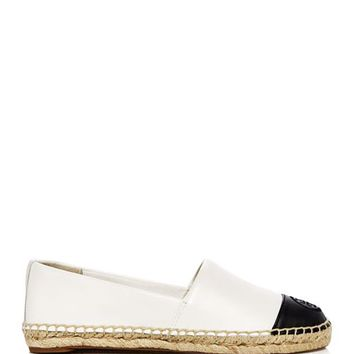 Tory Burch Women's Leather Color Block Espadrille Flats Shoes - Bloomingdale's