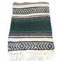 Hunter Green Mexican Blanket
