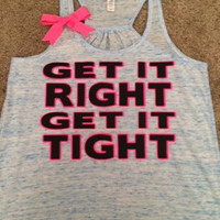 Get it Right Get It Tight Tank - Blue Marble - Ruffles with Love - Womens Fitness