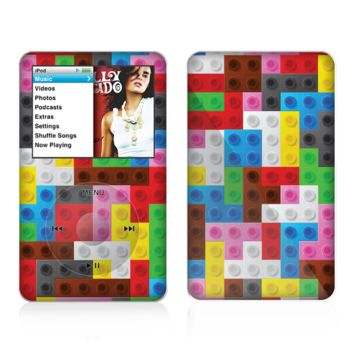 The Neon Colored Building Blocks Skin For The Apple iPod Classic