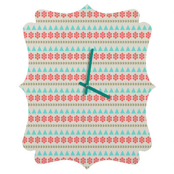 Allyson Johnson Holiday Style Quatrefoil Clock