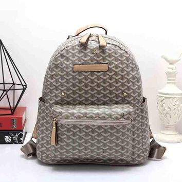 Goyard Women Leather Bookbag Shoulder Bag Handbag Backpack-2