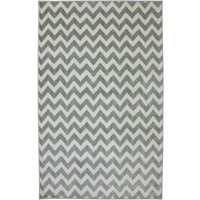 Pastel Chevron Rug - Grey