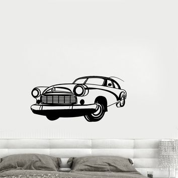 Wall Sticker Vintage Car Road Path Race Speed Vinyl Decal Unique Gift (ed509)