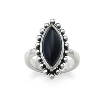 Beaded Marquise Onyx Ring | James Avery