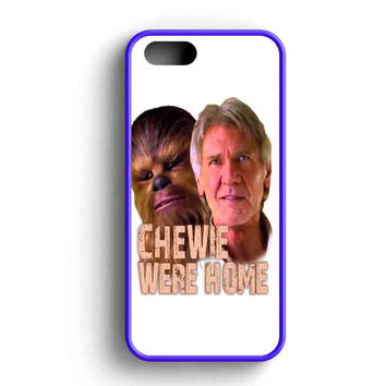 Star Wars The Force Awakens Chewie Were Home Han Solo iPhone 5 Case iPhone 5s Case iPhone 5c Case