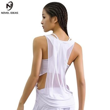 Women Gym Sports Tank T Shirt Yoga Workout Vest Fitness Training Exercise Running Clothing Sportswear Tee Tops Clothes