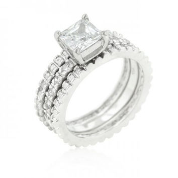 Bridal Triple Ring Set (size: 07) (pack of 1 ea)
