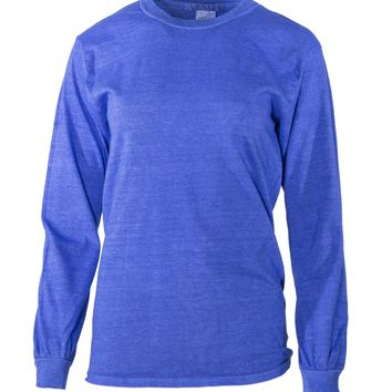 Stephen Venley Men's Long Sleeve Pigment Washed Crew Neck T-Shirt