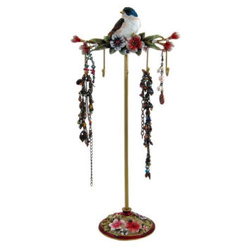 "Jewelrynanny Blue Bird Jewelry Stand Organizer Key Holder Hook, 11.75"" H"