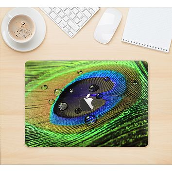 """The Watered Neon Peacock Feather Skin Kit for the 12"""" Apple MacBook"""
