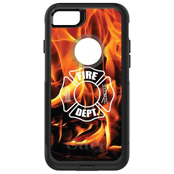 DistinctInk™ OtterBox Commuter Series Case for Apple iPhone or Samsung Galaxy - Flames Fire Department