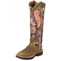 Women's Justin Rugged Tan-17in Camo Gaucho Top Cowgirl Boots