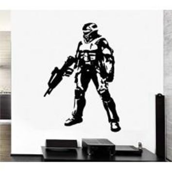 MASTER CHIEF Halo Xbox 360 Decal Sticker Vinyl car Window Wall Video Game Laptop