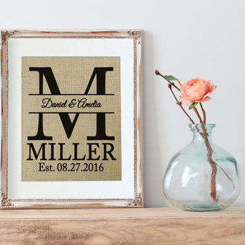 Personalized Wedding Gift | Wedding Gift for Couple | Burlap | Wedding Ideas | Wedding Gift for Best Friend | Personalized Wedding Sign