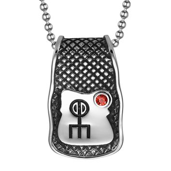 Unique Rune Norse Love Powers Ancient Amulet Royal Red Crystal Magic Runic Tag Pendant 18 inch Necklace