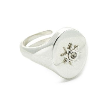 The Revel Starburst Signet Ring