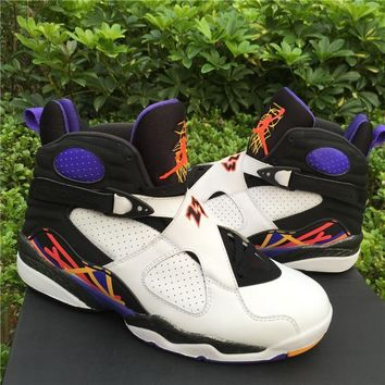 Nike Air Jordan 8 Retro Three Peat Cheap Sale JD 8 Discount Men Sports Basketball Shoe