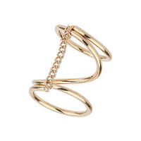 SPIRAL RING WITH CHAIN