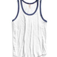 Ringer Tank Top in White