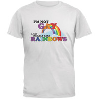 I'm Not Gay I Just Really Like Rainbows White Adult T-Shirt