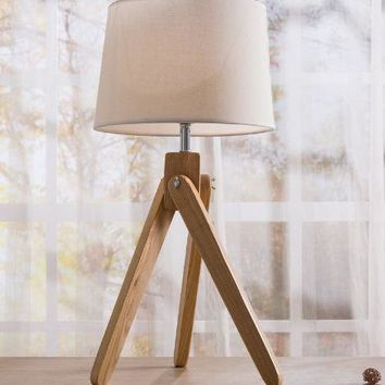 Modern Home Decor White Traditional Wooden Desk Lamp